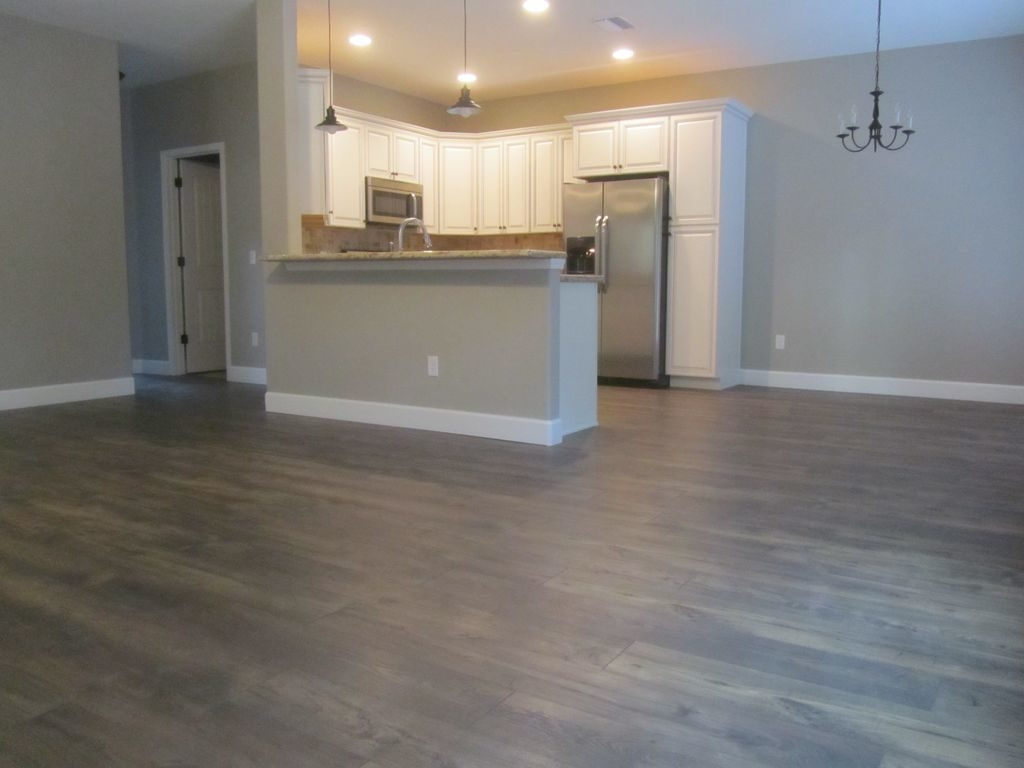 Living room into Kitchen